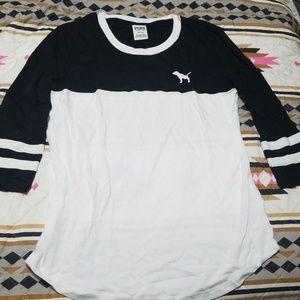 PINK black and white shirt